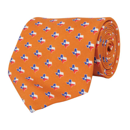 TX Traditional Orange Tie